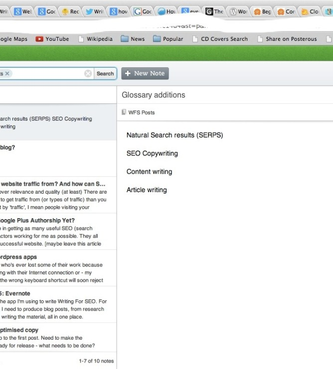 Writing Tools Part 5: Evernote | Writing For SEO