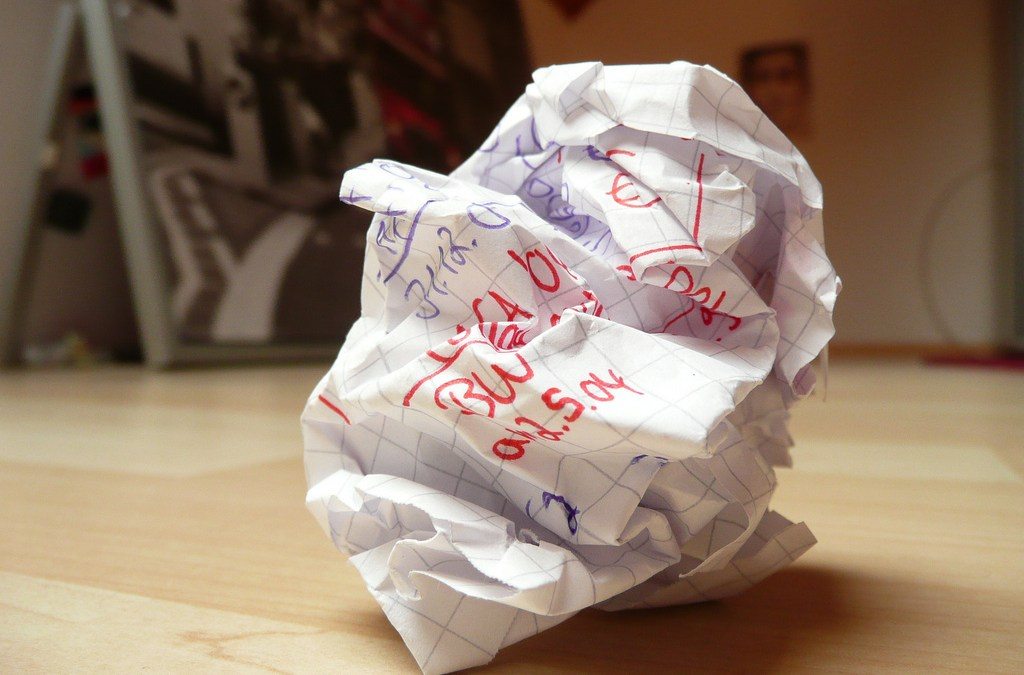 Killing writer's block by writing it into oblivion