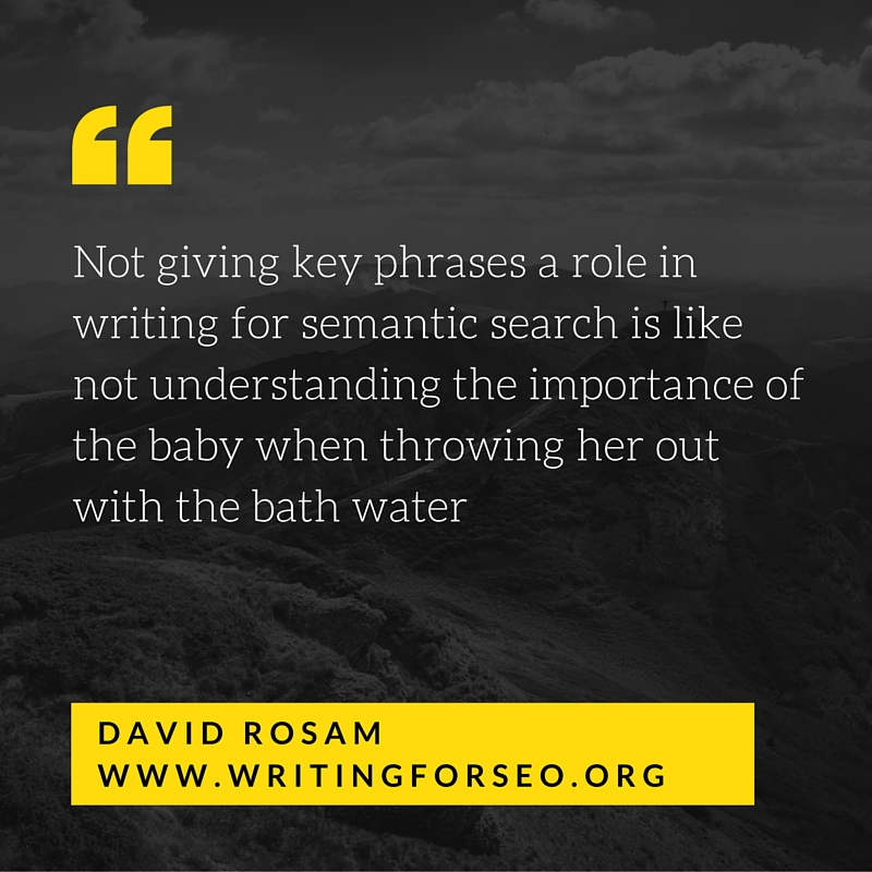 Key phrases and semantic search