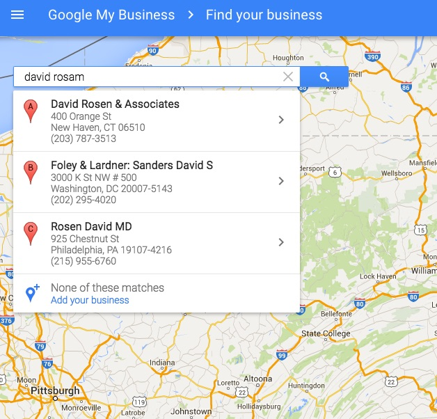 David Rosam on Google My Business