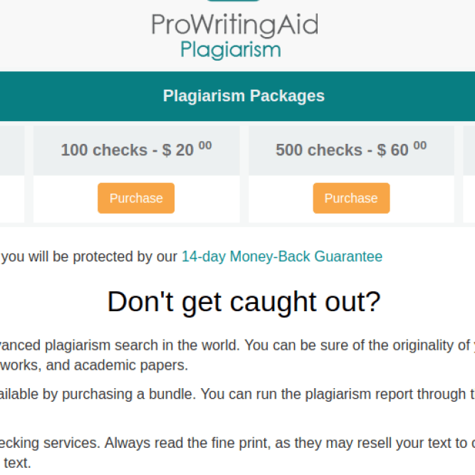 pro writing aid plagiarism checker