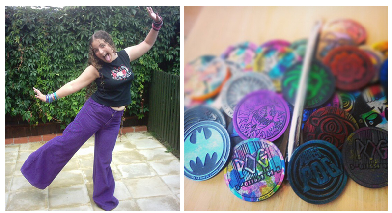 90s emo kid purple cords and pogs slammers nerd culture