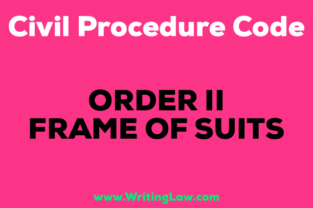 FRAME OF SUIT