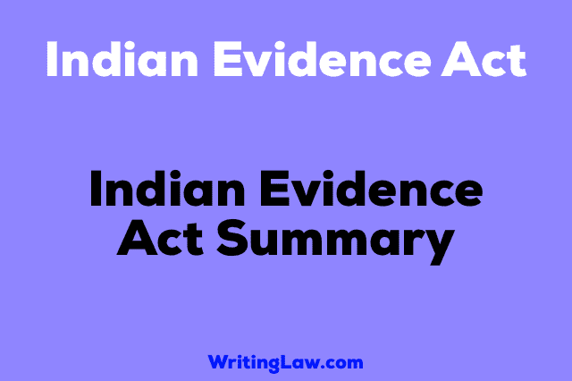 Indian Evidence Act 1872 for law students in easy language