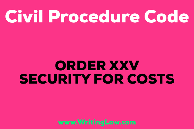 SECURITY FOR COSTS