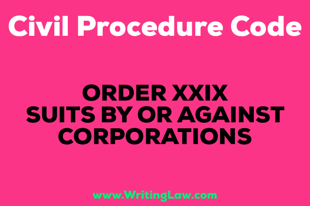 SUITS BY OR AGAINST CORPORATIONS