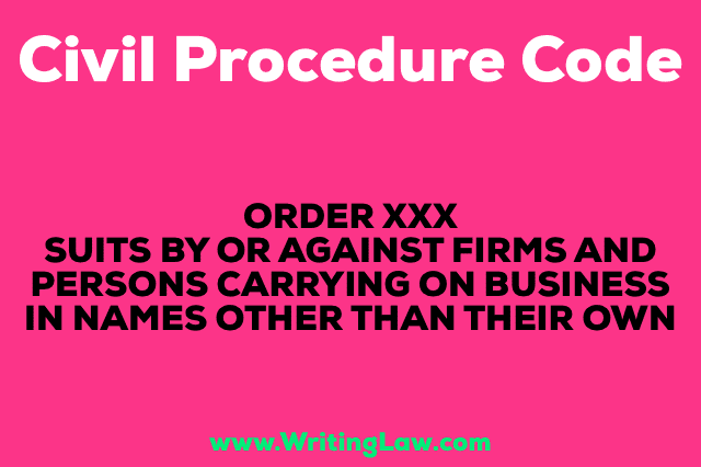 SUITS BY OR AGAINST FIRMS