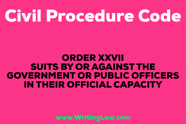 SUITS BY OR AGAINST THE GOVERNMENT