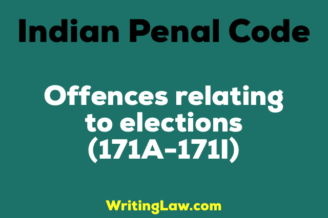 OFFENCES RELATING TO ELECTIONS
