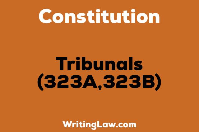 TRIBUNALS 323A