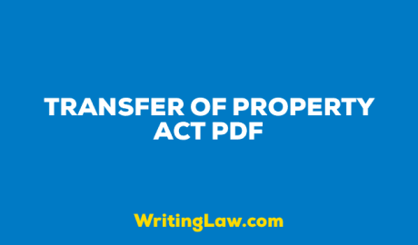 Transfer of Property Act PDF Download