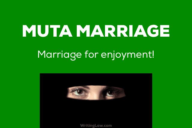 Muta Marriage in Muslims