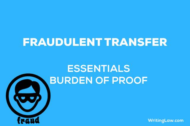 ESSENTIALS OF FRAUDULENT TRANSFER