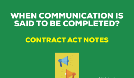 When is communication said to be completed