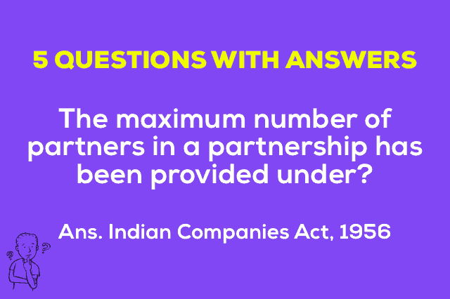 Maximum number of partners in a partnership