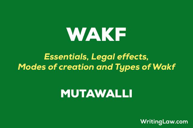 Wakf Explained