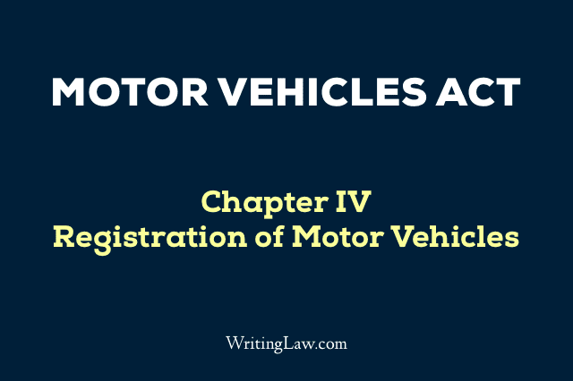 Motor Vehicles Act Chapter 4