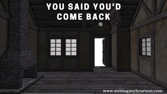 you said you'd come back poem