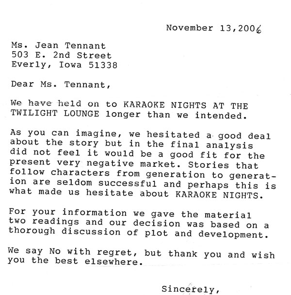I searched Rejection Letter in google images, here is what I got.