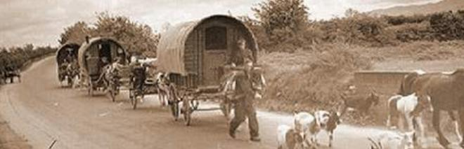 "Gypsies on the Road. ""The sky is our ceiling, hte land our garden"" - old Romany proverb"