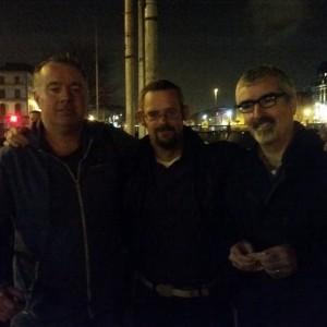 David Mallaghan and Tomas O Carthaigh and Richard Brennan of the Tullamore Rhymers Club