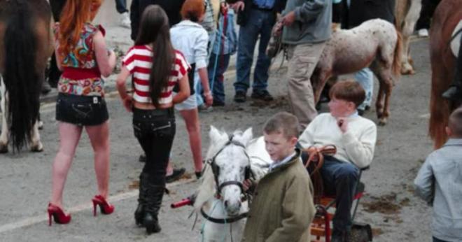 Youths enjoying Banagher Horse Fair in 2010