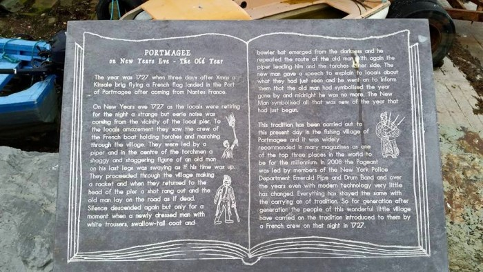 The story told on the information plaque in Portmagee in Co. Kerry.