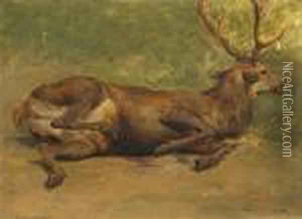 Wounded Stag - Rosa Bonheur