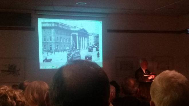 General James P Cullen speaking at Offaly Historical Society about the Easter 1916 Rebellion