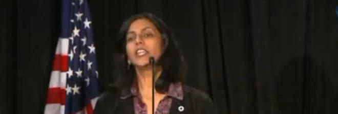 Councilwoman Kshama Sawant - subject to recall as advocated by the Irish Democratic Party. How this turns out will show the weaknesses of Direct Democracy which is mob rule subject to the passions of the moment which is why I do not support it.