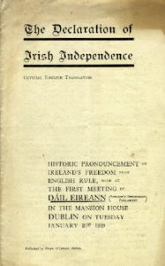 Irish Declaration of Independence - 21st of January 1919