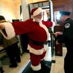 Santa at a COVID checkpoint