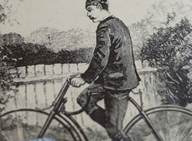"William Bulfin is sketch Detail to the cover of his book ""Rambles in Eireann"""