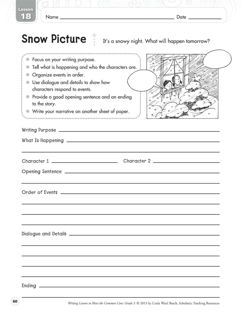 English Creative Writing Worksheets For Grade 1