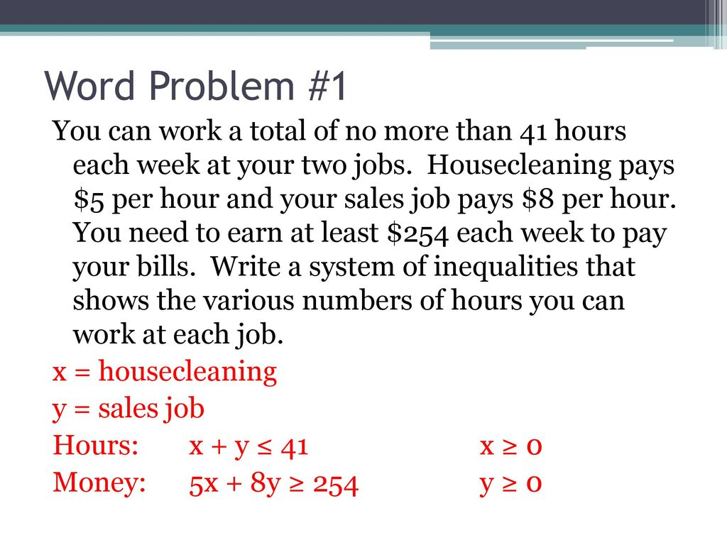 Writing Equations And Inequalities From Word Problems