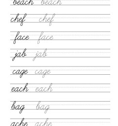 3rd Grade Cursive Worksheets Letters   Printable Worksheets and Activities  for Teachers [ 2560 x 1978 Pixel ]