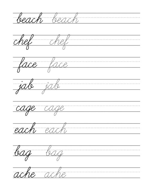 small resolution of 3rd Grade Cursive Worksheets Letters   Printable Worksheets and Activities  for Teachers