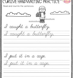 5th Grade Cursive Writing Worksheets   Printable Worksheets and Activities  for Teachers [ 1325 x 1024 Pixel ]