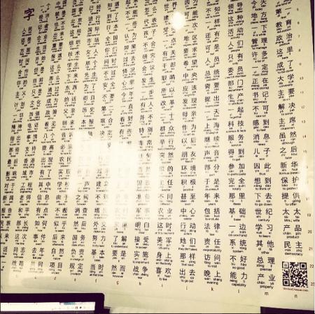 Written Chinese Bigrams Poster