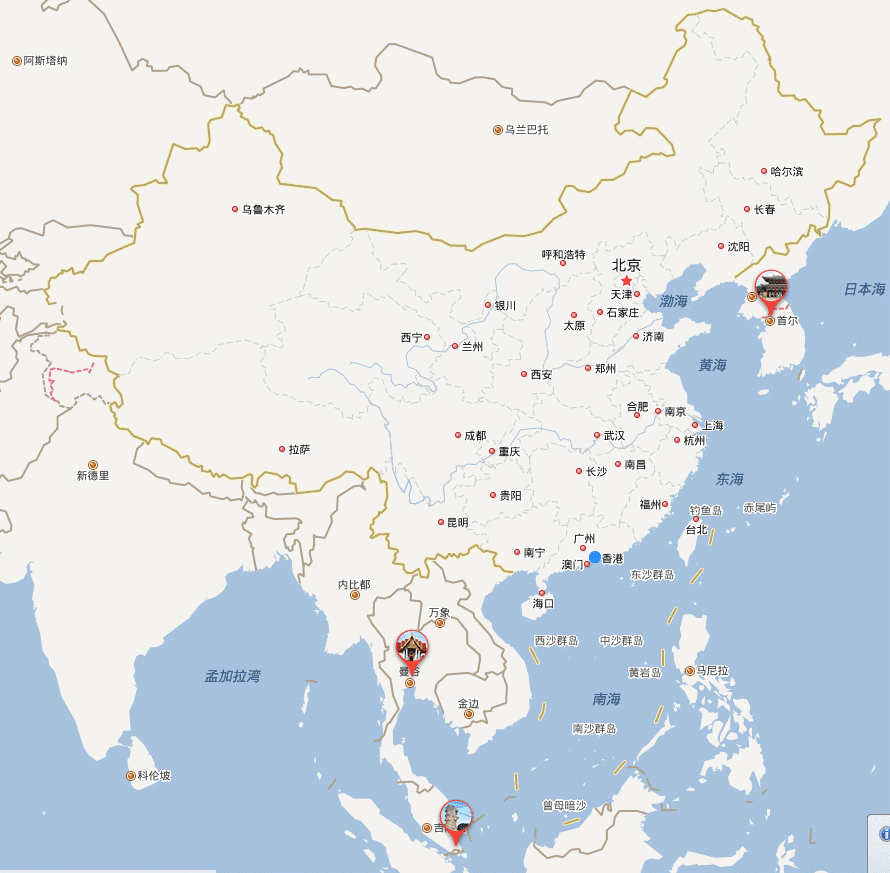 Directions in Chinese - Map of China