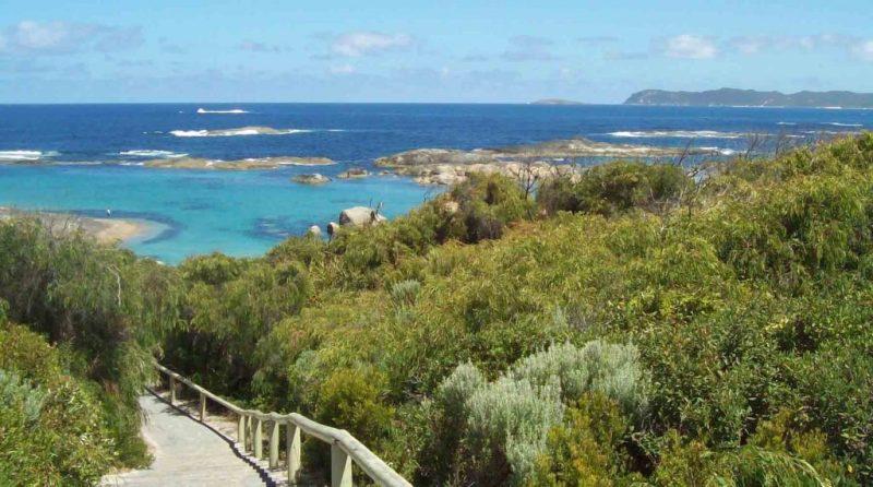 https://www.writteninwaikiki.com/living-with-anxiety/ beach at Greens Pool Western Australia