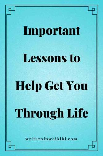 important lessons to help get you through life pinterest blue background
