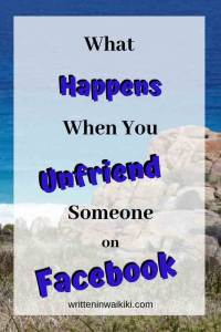 what happens when you unfriend someone on Facebook pinterest
