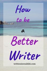 how to be a better writer pinterest beach
