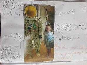 Abigail's moon landings poster