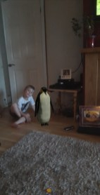 Jamie has a visit from a penguin