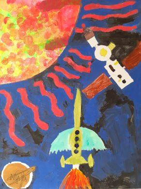 Oliver's space artwork