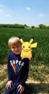 Arthur finds Pikachu in a field