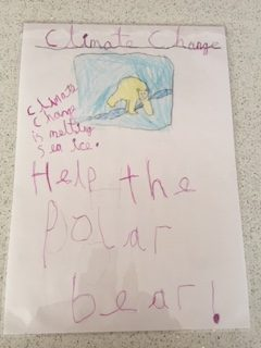 Mia's climate change poster