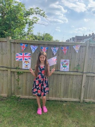 Annabelle's VE day decorations
